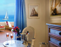 Colonna Pevero 8Deluxe Room - View with sailing boat
