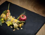 57. Dish - Omelette destrutturata ai funghi shitake e verdure baby al burro
